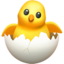 Hatching Chick Emoji (Apple)