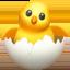 kuiken uit ei Emoji (Apple)