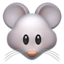 Mouse Face Emoji (Apple)