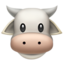 Cow Face Emoji (Apple)