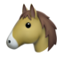 Horse Face Emoji (Apple)