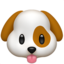 Dog Face Emoji (Apple)