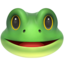 Frog Face Emoji (Apple)