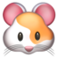 Hamster Face Emoji (Apple)