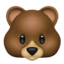 Bear Face Emoji (Apple)
