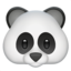 Panda Face Emoji (Apple)