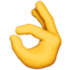 Ok Hand Emoji (Apple)