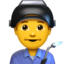 Man Factory Worker Emoji (Apple)