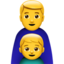 Family: Man, Boy Emoji (Apple)
