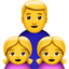 Family: Man, Girl, Girl Emoji (Apple)