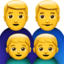 Family: Man, Man, Boy, Boy Emoji (Apple)