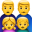 Family: Man, Man, Girl, Boy Emoji (Apple)