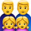 Family: Man, Man, Girl, Girl Emoji (Apple)
