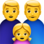 Family: Man, Man, Girl Emoji (Apple)