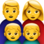 Family: Man, Woman, Boy, Boy Emoji (Apple)