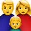 Family: Man, Woman, Boy Emoji (Apple)