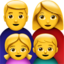 Family: Man, Woman, Girl, Boy Emoji (Apple)