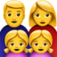 Family: Man, Woman, Girl, Girl Emoji (Apple)