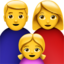 Family: Man, Woman, Girl Emoji (Apple)