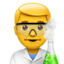 Man Scientist Emoji (Apple)