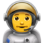Man Astronaut Emoji (Apple)