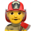Man Firefighter Emoji (Apple)