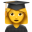 Woman Student Emoji (Apple)