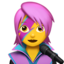 Woman Singer Emoji (Apple)
