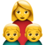 Family: Woman, Boy, Boy Emoji (Apple)