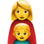 Family: Woman, Boy Emoji (Apple)
