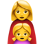 Family: Woman, Girl Emoji (Apple)