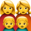 Family: Woman, Woman, Boy, Boy Emoji (Apple)
