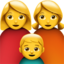 Family: Woman, Woman, Boy Emoji (Apple)