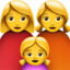 Family: Woman, Woman, Girl Emoji (Apple)