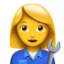 Woman Mechanic Emoji (Apple)