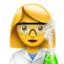 Woman Scientist Emoji (Apple)