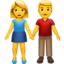 Man And Woman Holding Hands Emoji (Apple)
