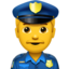 Police Officer Emoji (Apple)