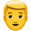 Blond-Haired Person Emoji (Apple)