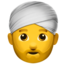 Person Wearing Turban Emoji (Apple)