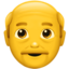 Old Man Emoji (Apple)