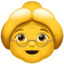 Old Woman Emoji (Apple)