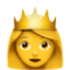 prinsessa Emoji (Apple)