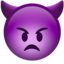 Angry Face With Horns Emoji (Apple)