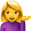 Person Tipping Hand Emoji (Apple)