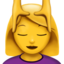 Person Getting Massage Emoji (Apple)