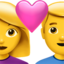 Couple With Heart Emoji (Apple)
