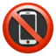 No Mobile Phones Emoji (Apple)