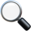 Magnifying Glass Tilted Left Emoji (Apple)