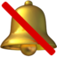 Bell With Slash Emoji (Apple)